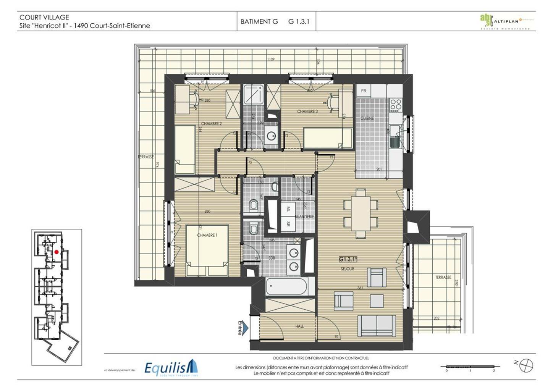 Appartement - Court-St.-Etienne - #3468385-2